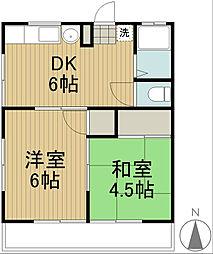 ハイツ松桂[2階]の間取り