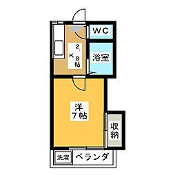 藤本ハイツ[1階]の間取り
