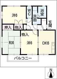 カラントサンク[2階]の間取り