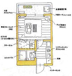ユトリロ草間[3-G号室]の間取り