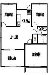 サンライズ柴崎[1階]の間取り