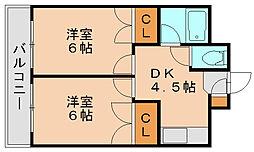 キャンパスシティ箱崎[6階]の間取り