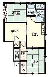 川南マンション[1階]の間取り