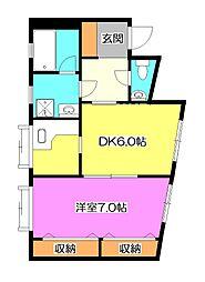 けやきハウス[2階]の間取り