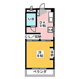 ユングハイム山野田[1階]の間取り
