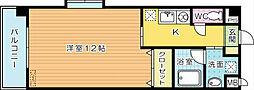 デスパシオ熊本[308号室]の間取り