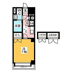 福岡県福岡市博多区千代3丁目の賃貸マンションの間取り