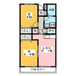 アルストロメリア[2階]の間取り