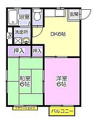 ハビテーションクレイン[1階]の間取り