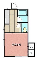 フルハウス[205号室]の間取り