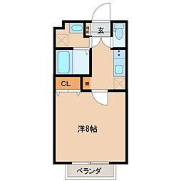 仙台市地下鉄東西線 卸町駅 徒歩13分の賃貸アパート 1階1Kの間取り