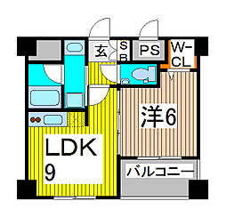 ソアラノーム北浦和[4階]の間取り