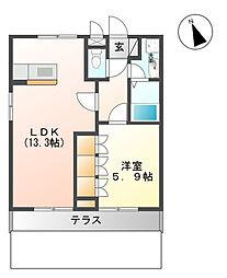 埼玉県入間郡毛呂山町大字川角の賃貸アパートの間取り
