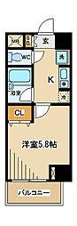 東京都府中市寿町3の賃貸マンションの間取り