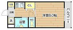 CITYCOM(シティコム)高槻[3階]の間取り