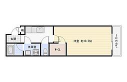 大阪府大阪市平野区長吉出戸4丁目の賃貸アパートの間取り