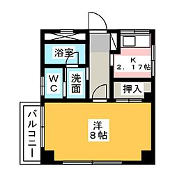 カーサS・Y・M[4階]の間取り