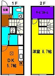 [テラスハウス] 静岡県浜松市東区中野町 の賃貸【静岡県 / 浜松市東区】の間取り