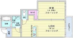 仙台市営南北線 富沢駅 徒歩17分の賃貸アパート 1階1LDKの間取り