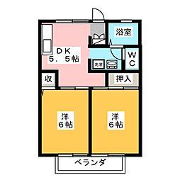 コーポラスYOU A棟[2階]の間取り