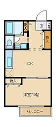 メゾフォルテ[2階]の間取り