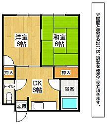 和気第一アパート[2階]の間取り