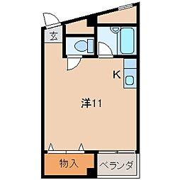 ピュア紀三井寺[4階]の間取り