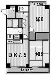 神奈川県横浜市西区戸部町7の賃貸マンションの間取り