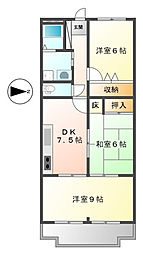 兵庫県明石市和坂1丁目の賃貸アパートの間取り