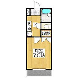 鏡石ハウス[103号室]の間取り