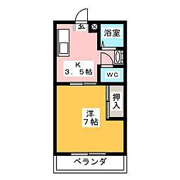 第二清隆荘[3階]の間取り