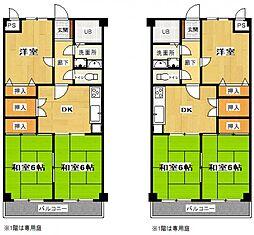 プレザント2階Fの間取り画像