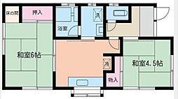 神奈川県横浜市泉区中田北3丁目の賃貸アパートの間取り