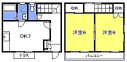 [テラスハウス] 埼玉県さいたま市浦和区針ヶ谷3丁目 の賃貸【/】の間取り