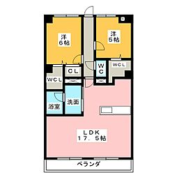 ソレイユ11[1階]の間取り