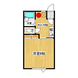 みきハウス 1階1Kの間取り