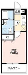 ボヌール深江橋[3階]の間取り
