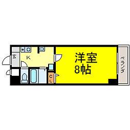 ベル名駅[705号室]の間取り