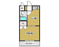 井口ビューハイツ[1階]の間取り