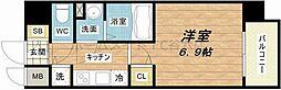 N77 FUKUSHIMAIII 8階1Kの間取り
