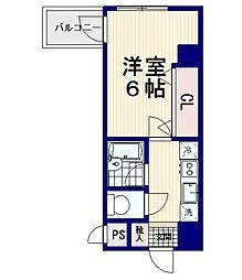 モンヴィラージュ中野新橋[6階]の間取り
