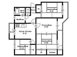 オレンジマンション4号棟[4階]の間取り