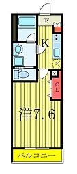 西武池袋線 椎名町駅 徒歩4分の賃貸マンション 1階1Kの間取り