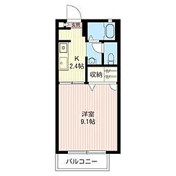 グランシャリオA[2階]の間取り