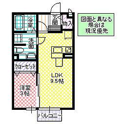 ルクリア[205号室号室]の間取り