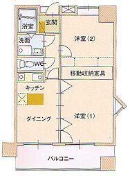 サングレートESAKA2[5階]の間取り