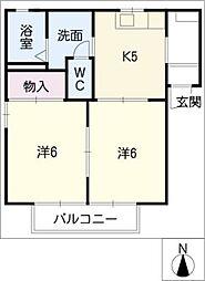 ヴェルドミール神の倉A棟[1階]の間取り