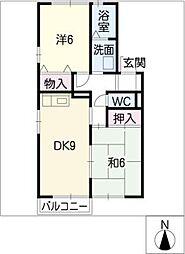 シャルム新浜II[1階]の間取り
