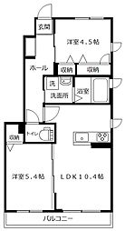 コートハウス笹下[101号室]の間取り