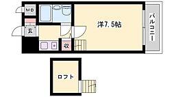 レインボーコア[407号室]の間取り